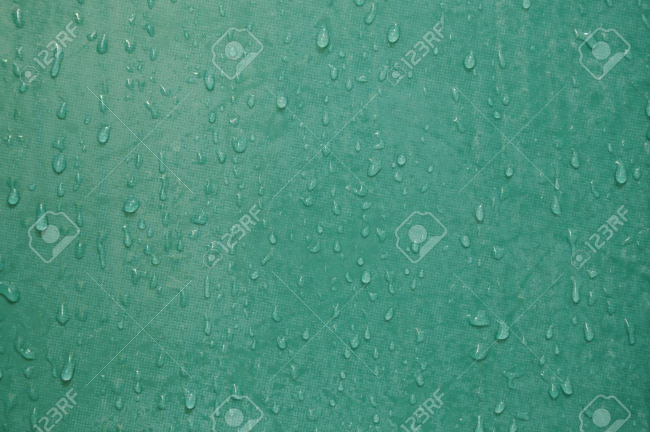 Drop Of Water And Stain On Green Tile Bathroom Wall Stock Photo ...