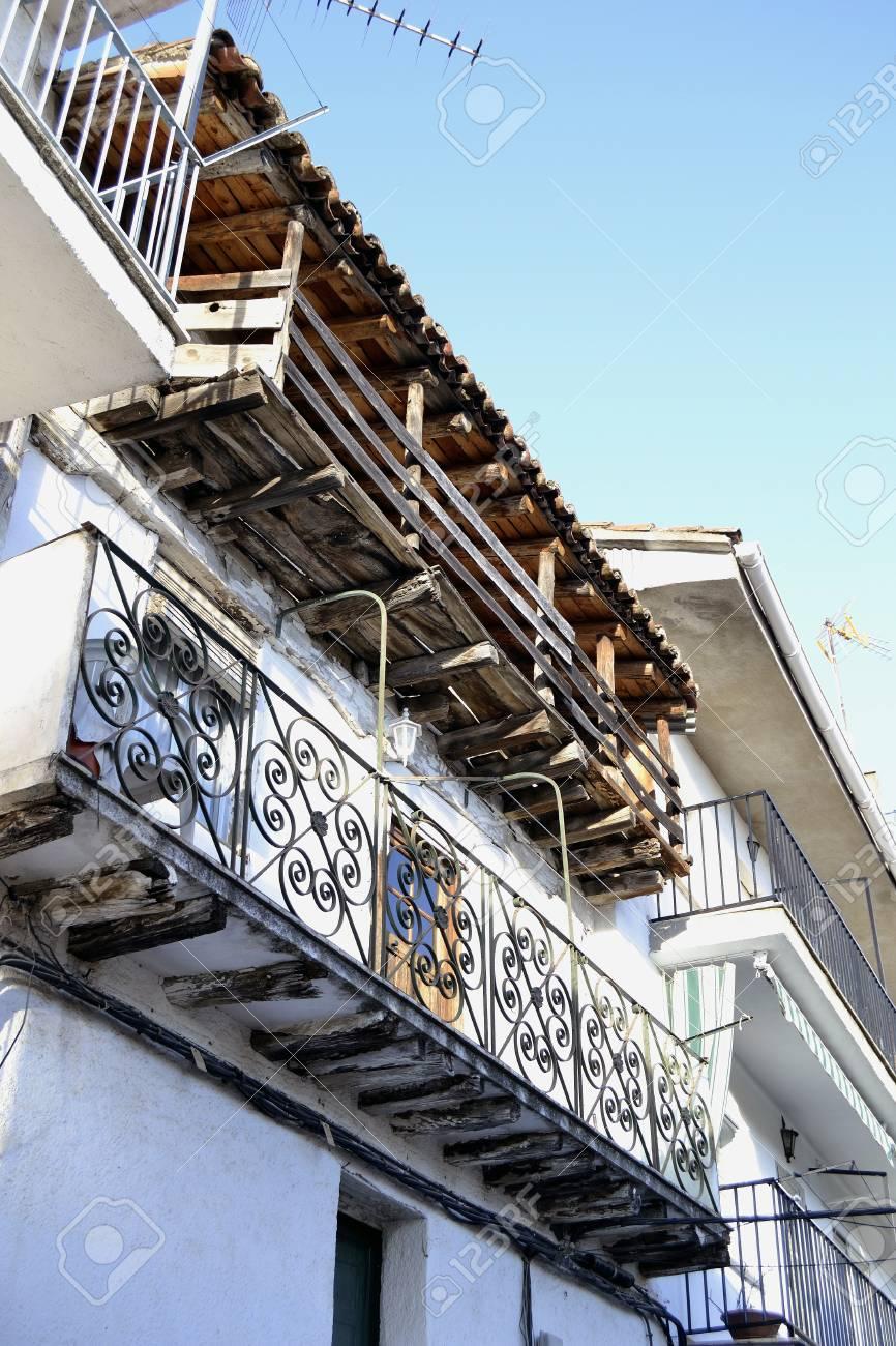 Balconies in Pedro Bernardo, &Atilde,vila Stock Photo - 18069497