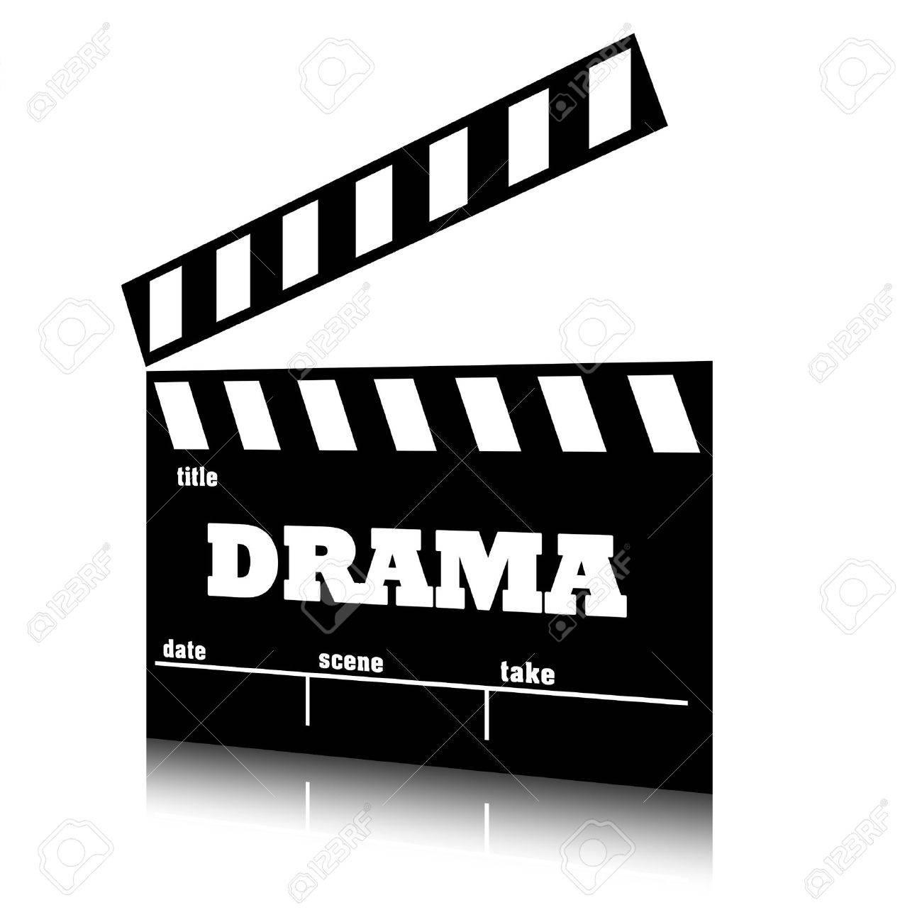 Banque d'images - Clap cinéma du genre drame cinéma, illustration du texte  claquette.