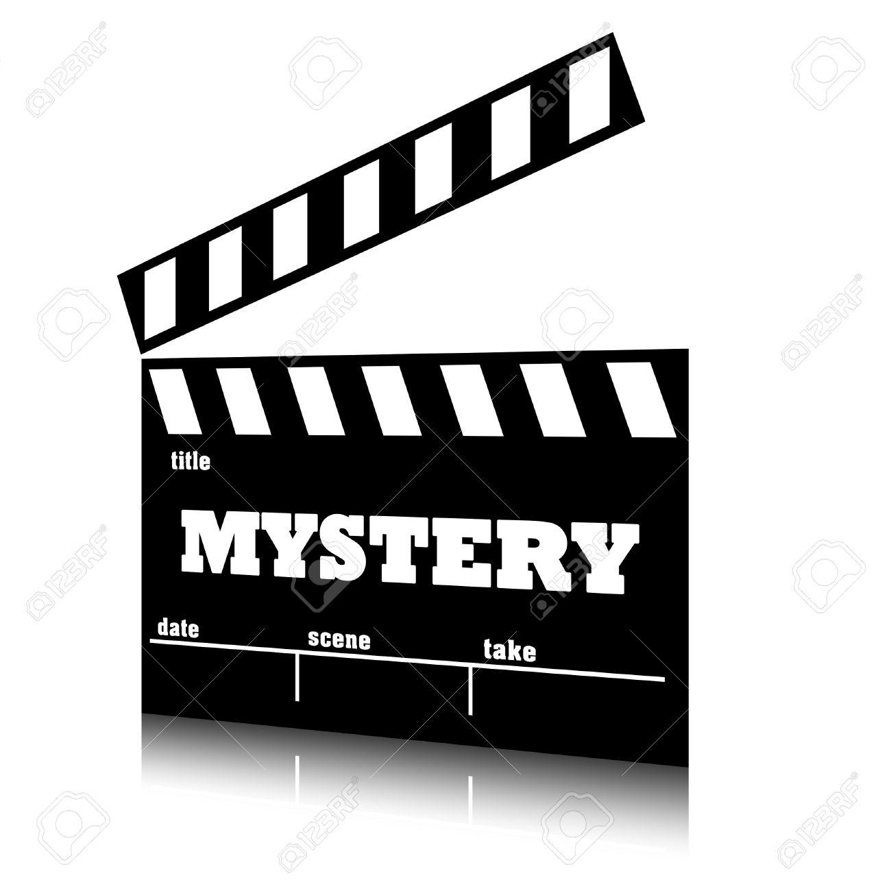 clap film of cinema mystery genre clapperboard text illustration rh 123rf com  movie clapboard clipart