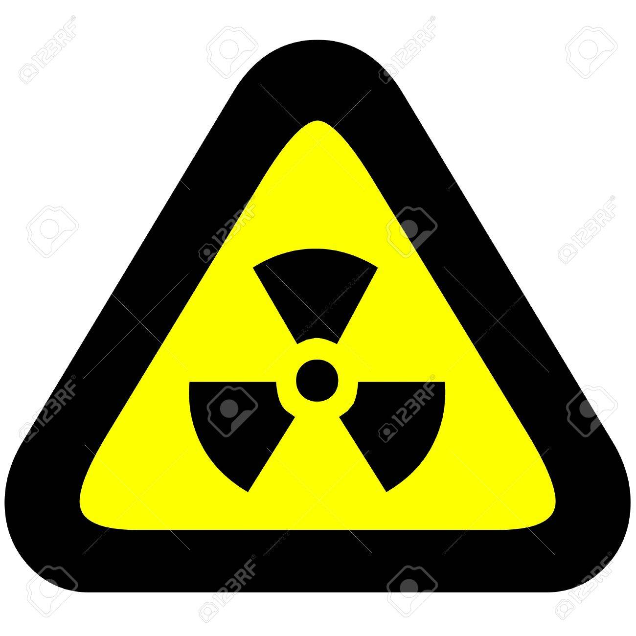 Radioactivity warning hazard sign. Stock Photo - 17078298