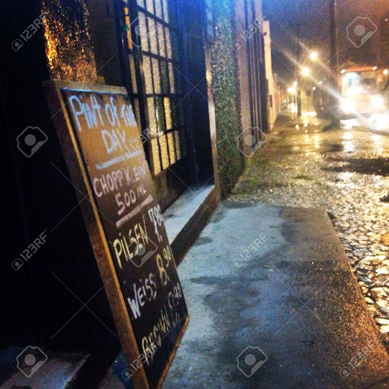 Rain Outside Of A Pub Stock Photo, Picture And Royalty Free Image. Image  27767447.