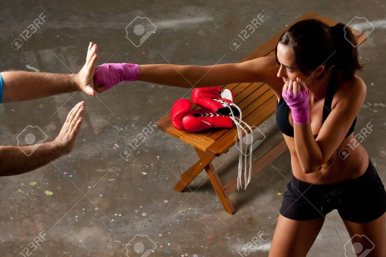 Girl training body combat Stock Photo - 11304351