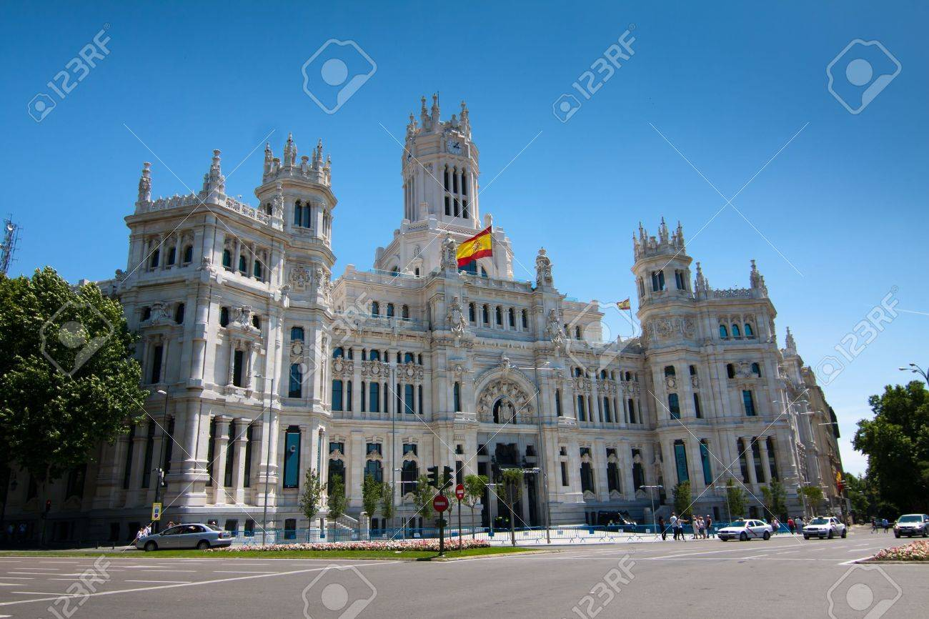 Madrid Town Hall, in Cibeles Square  Stock Photo - 11379728