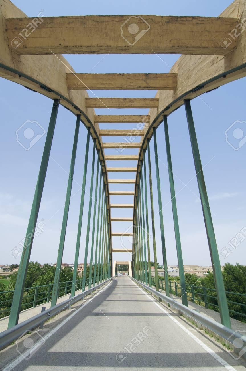 concrete suspension bridge in Spain Stock Photo - 5884795