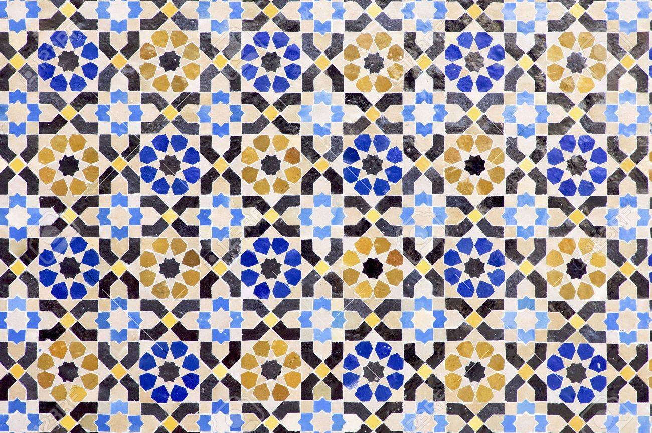 Arabic mosaic of colors that form a beautiful puzzle Stock Photo - 6070880