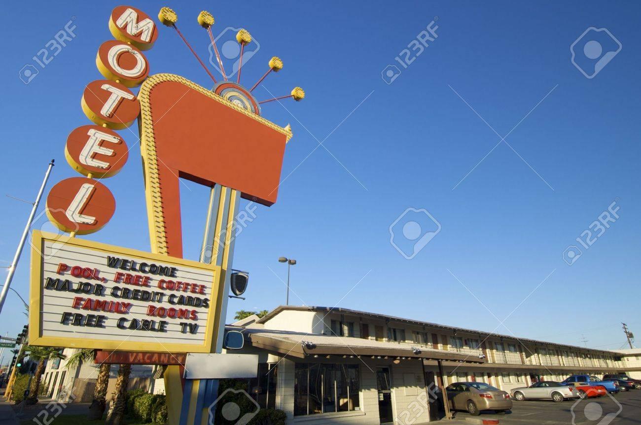 poster red motel in Las Vegas, Usa Stock Photo - 6102324