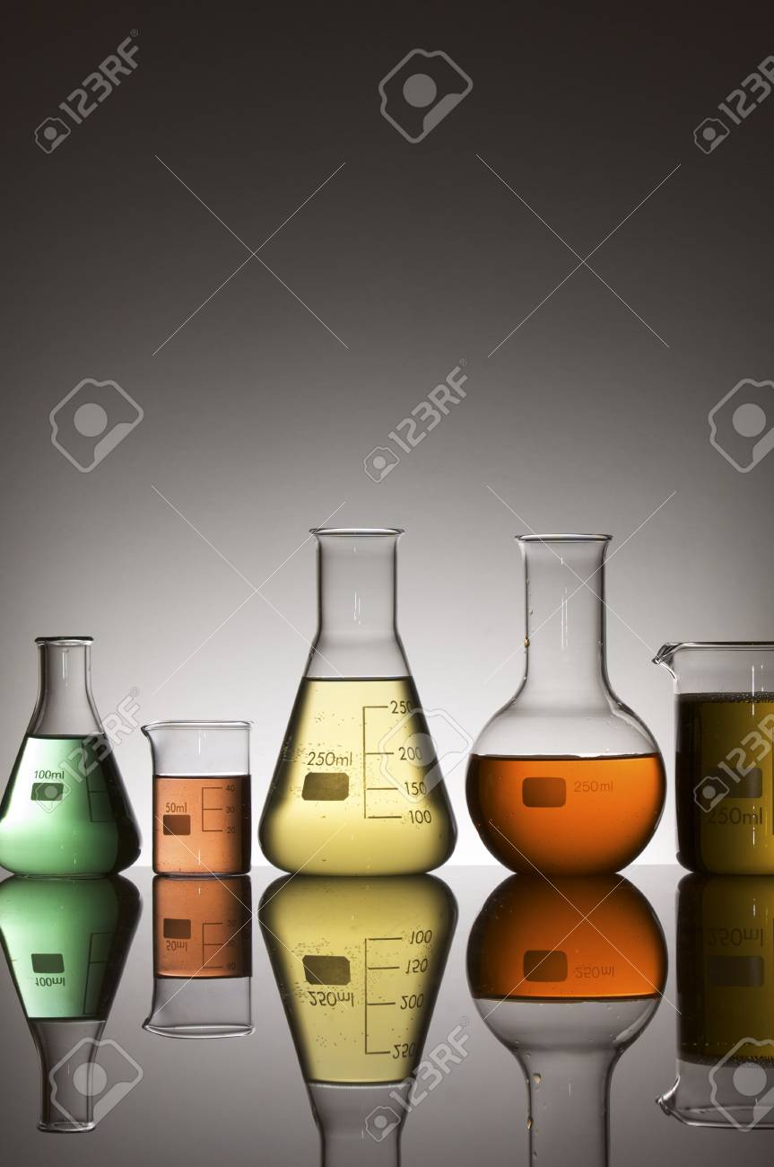 lab equipment with colored liquid Stock Photo - 6372232
