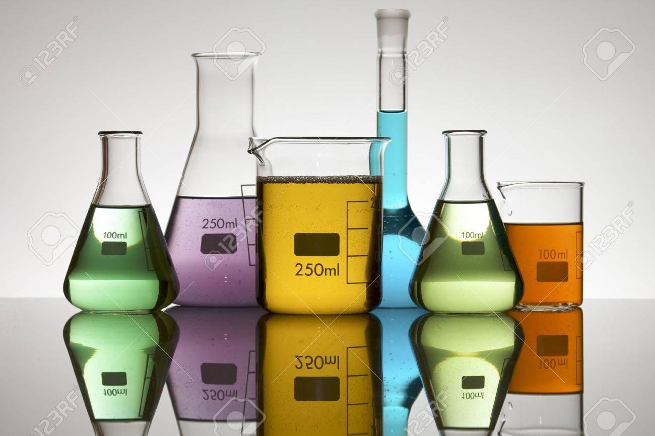 laboratory equipment with liquid color Stock Photo - 6372222