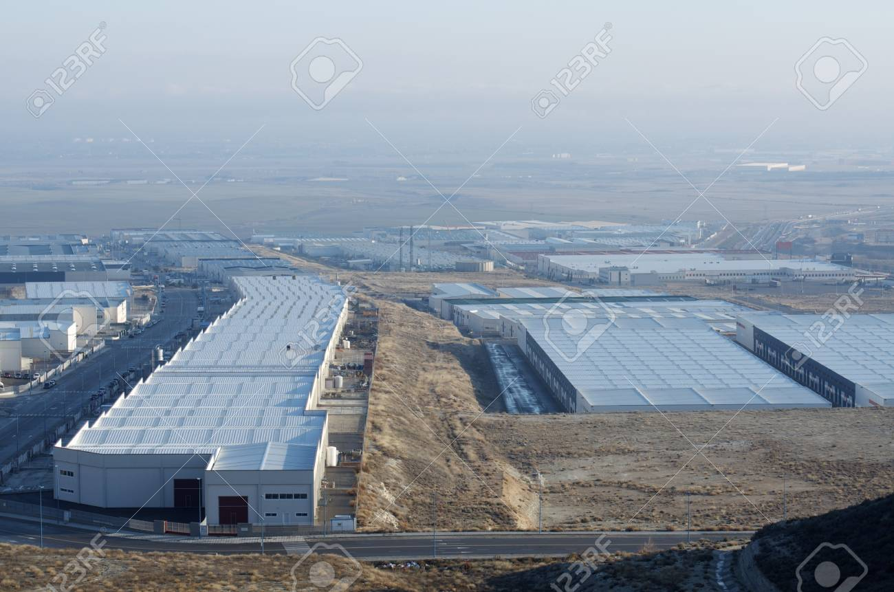 elevated view  of a new industrial zone Stock Photo - 8731492