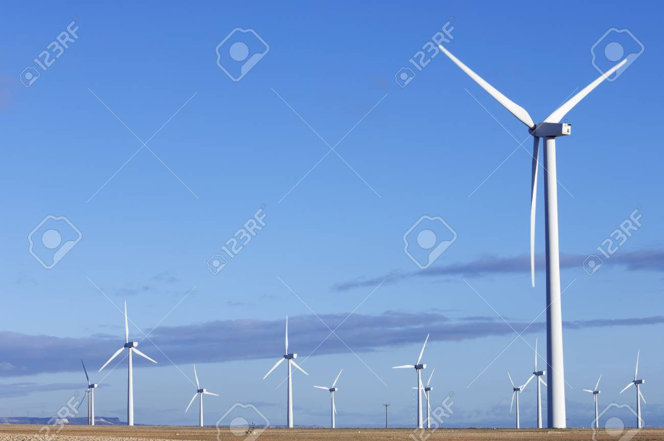 turbines for electricity production with blue sky Stock Photo - 8731524