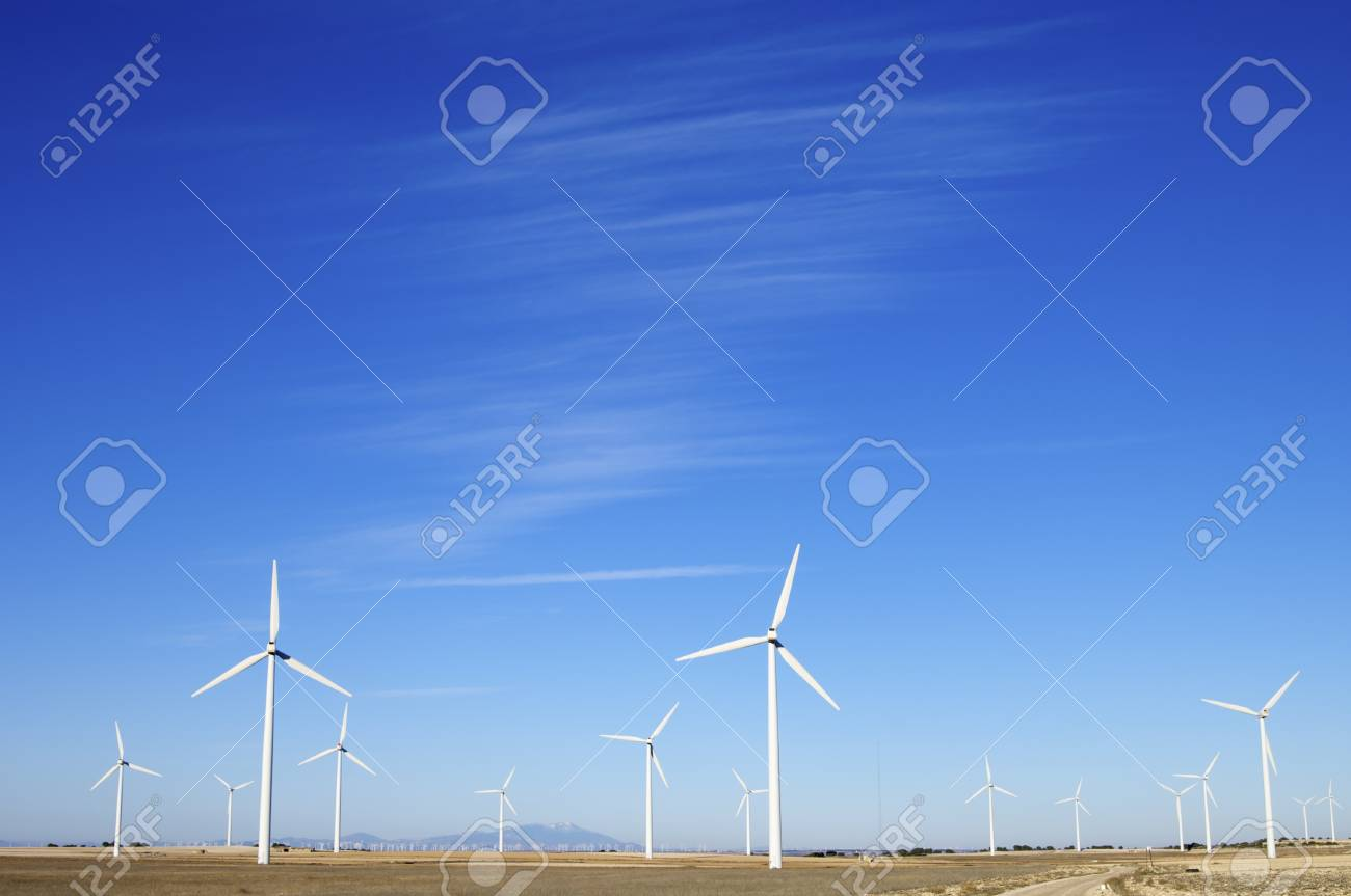 group windmills for electric power generation alternative Stock Photo - 11157650