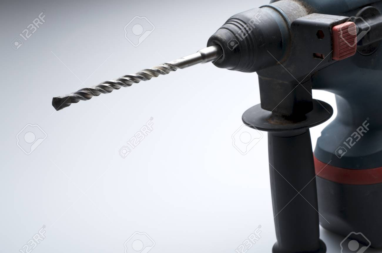 closeup of a hammer drill with battery Stock Photo - 11721667