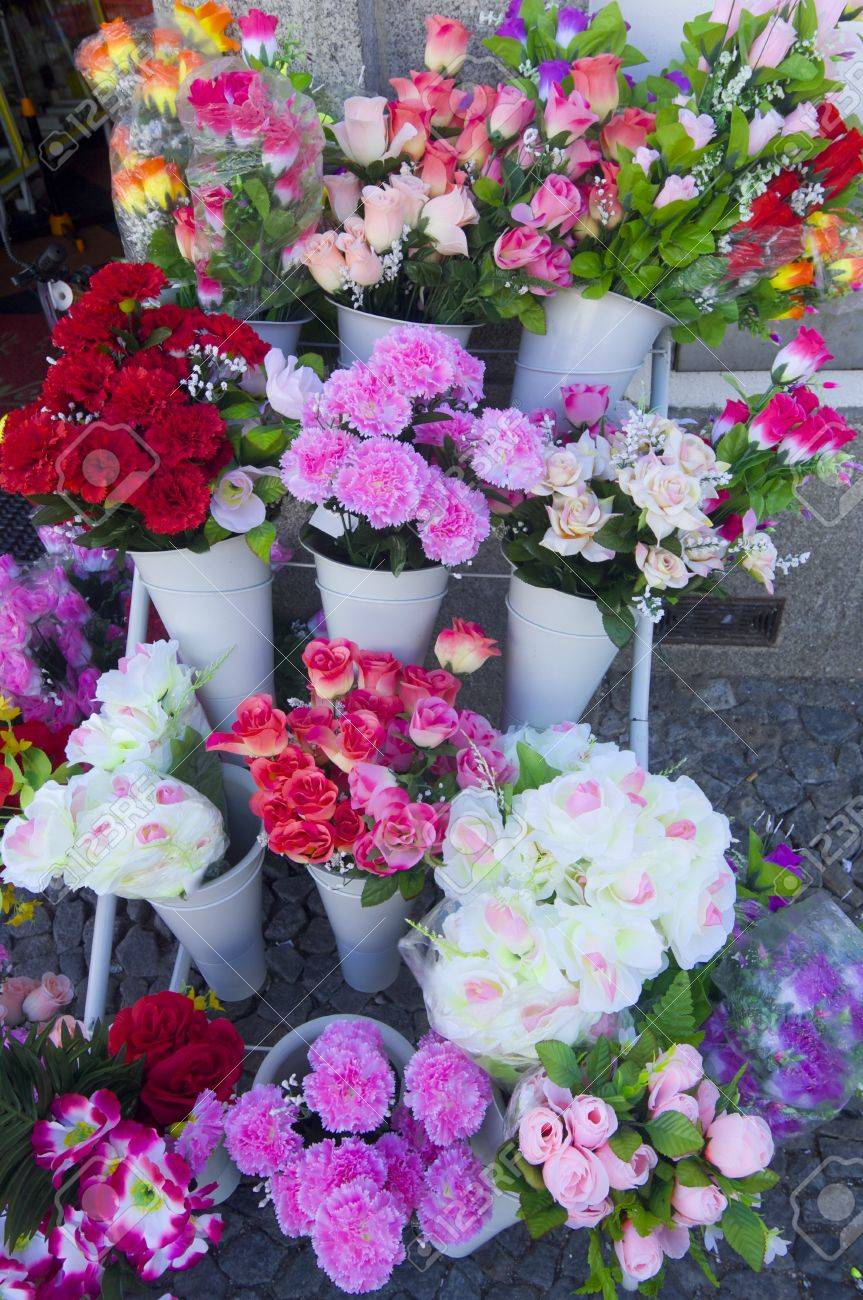 Numerous Bouquets Of Flowers And Gifts To Be Purchased