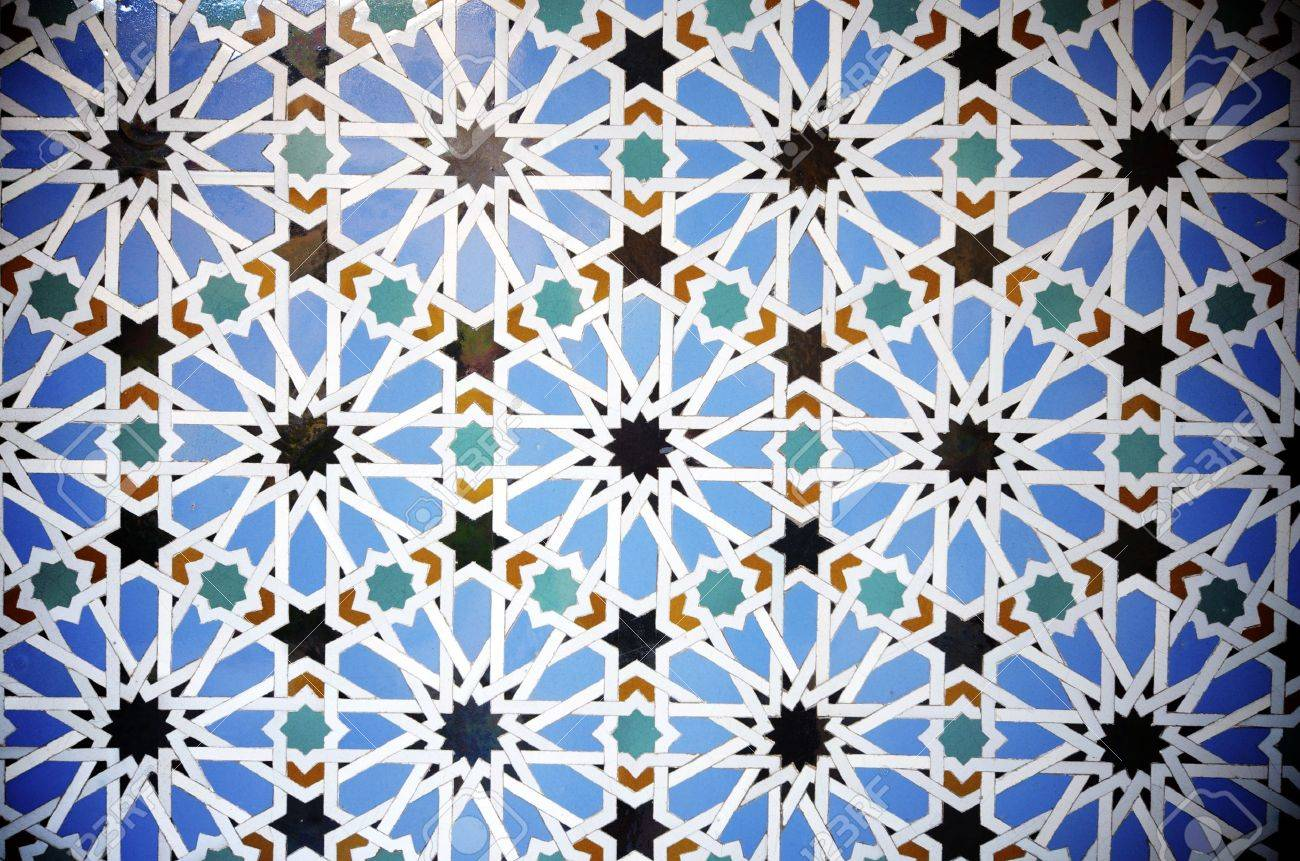 closeup of a ceramic tile in Reales Alcazares, Seville, Andalucia, Spain - 12287852