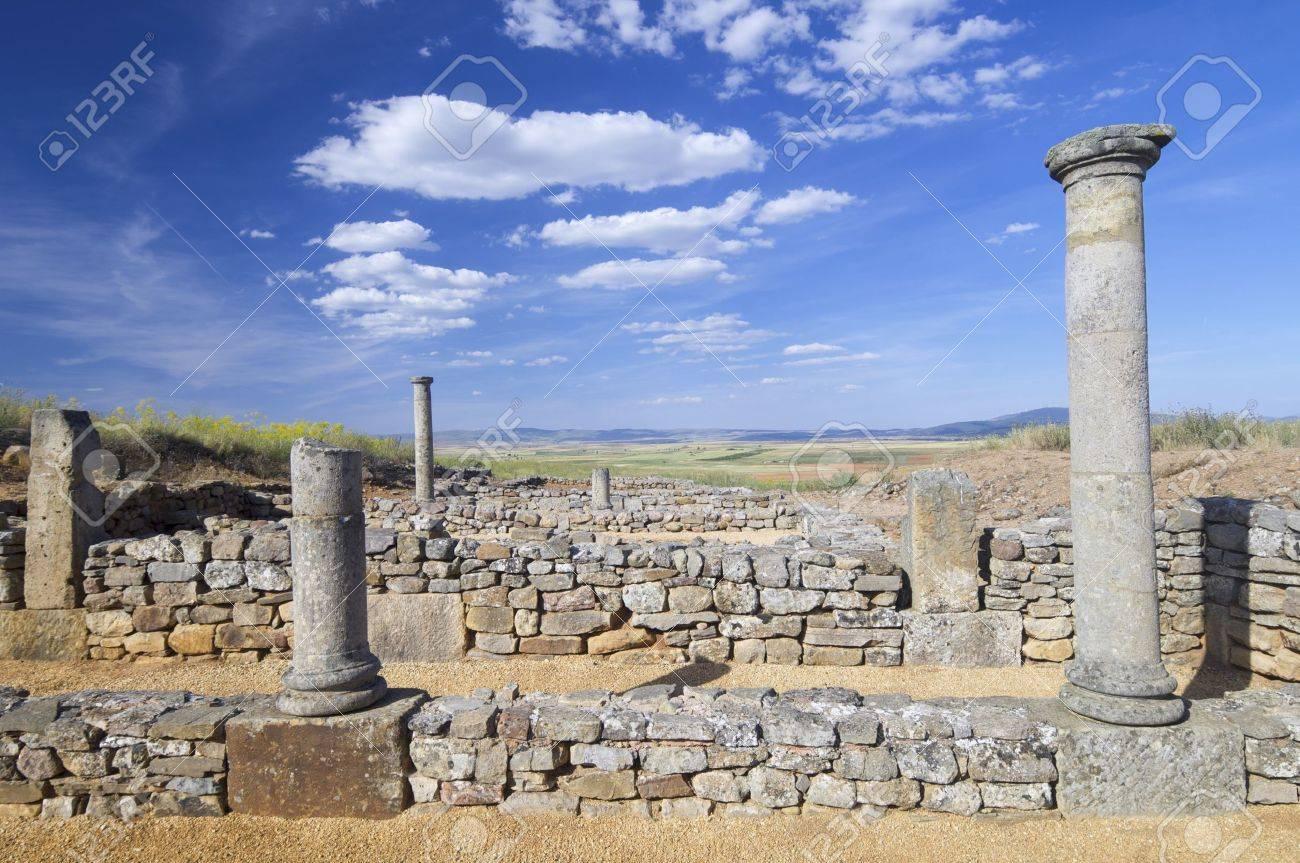 archaeological remains of the ruins of Numancia, Soria, Castilla Leon, Spain - 12689514