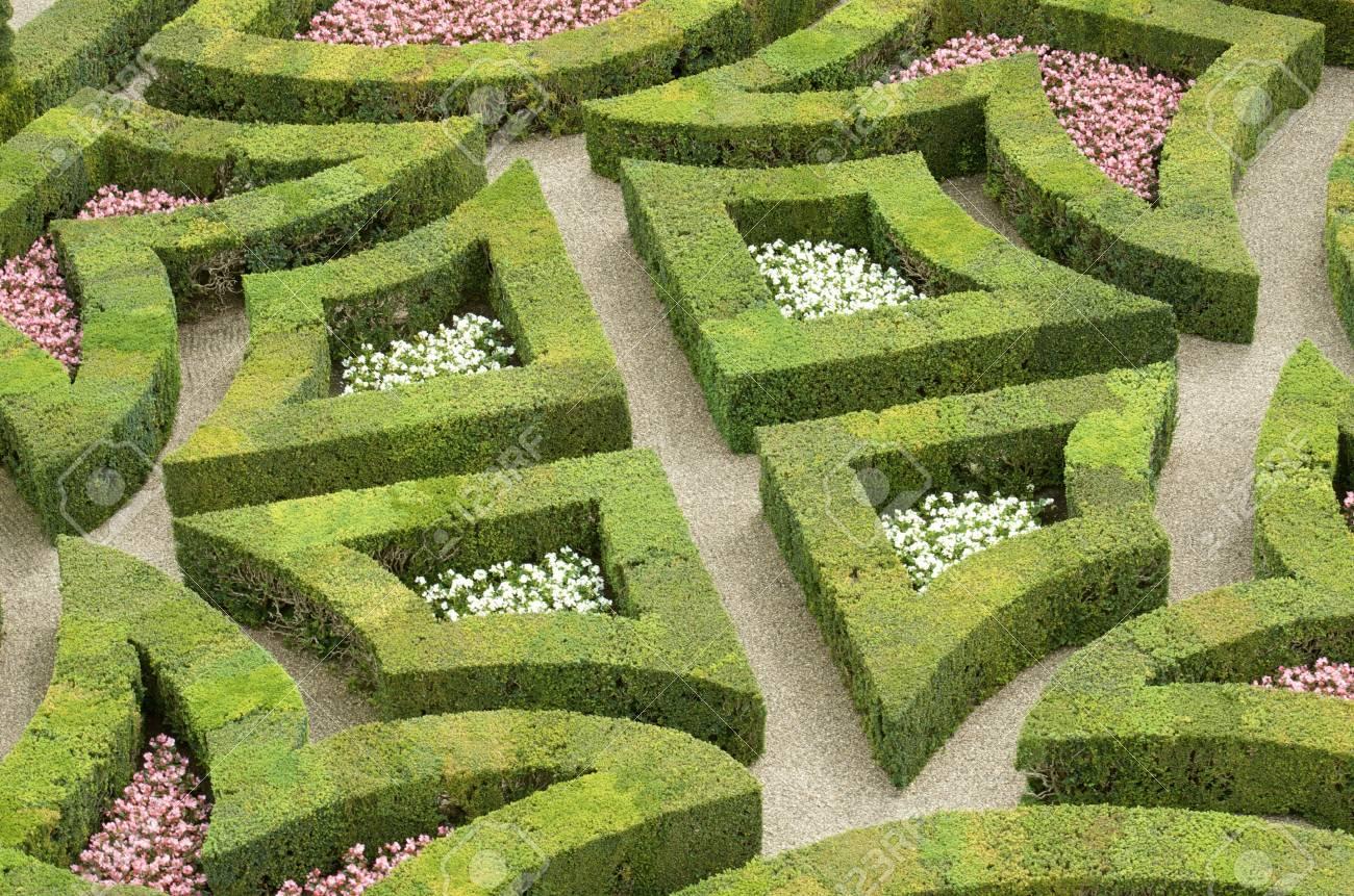 Plan Du Jardin Du Chateau De Villandry Vallee De La Loire France