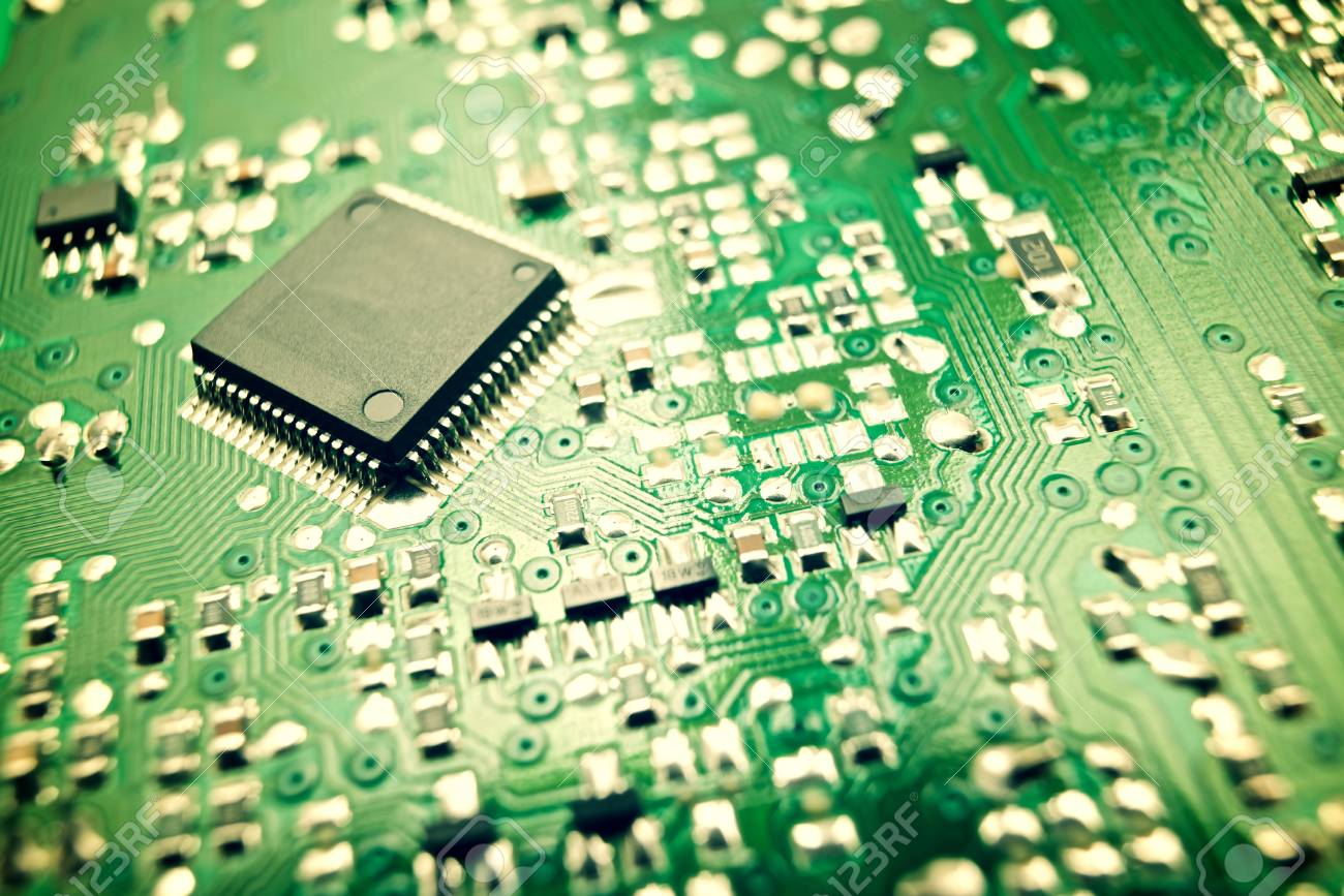 Chip Close Up On A Integrated Circuit Stock Photo Picture And Board Closeup Of 45973957