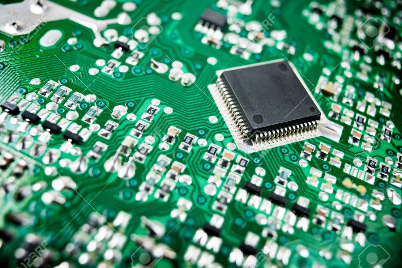 Chip Close Up On A Integrated Circuit Stock Photo Picture And Electronic Royalty Free Image 45973970