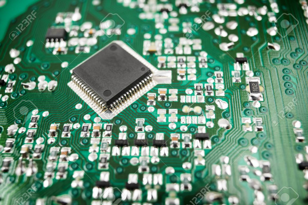 Chip Close Up On A Integrated Circuit Stock Photo Picture And Electronic Royalty Free Image 79704722