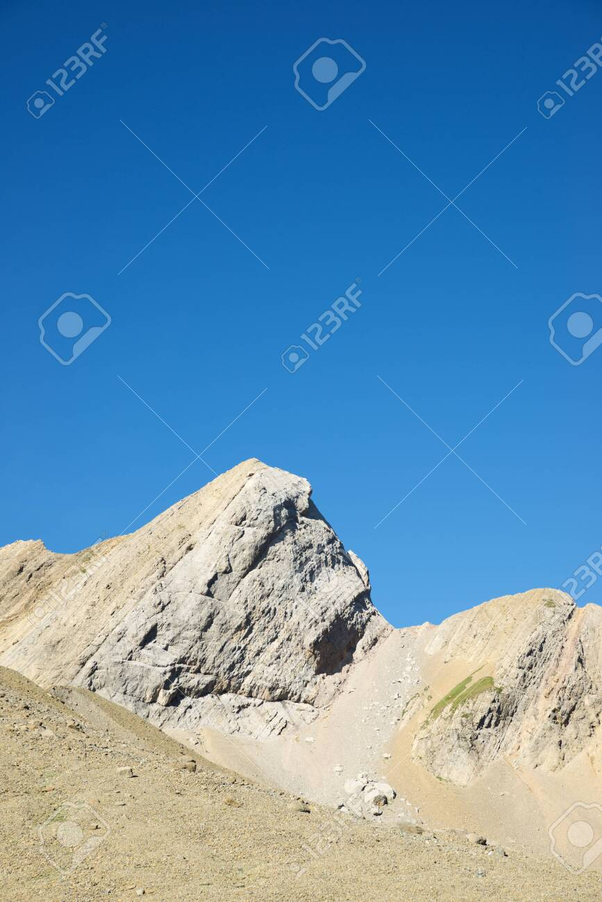 Peaks in Gavarnie Valley, Pyrenees in France. - 125972048