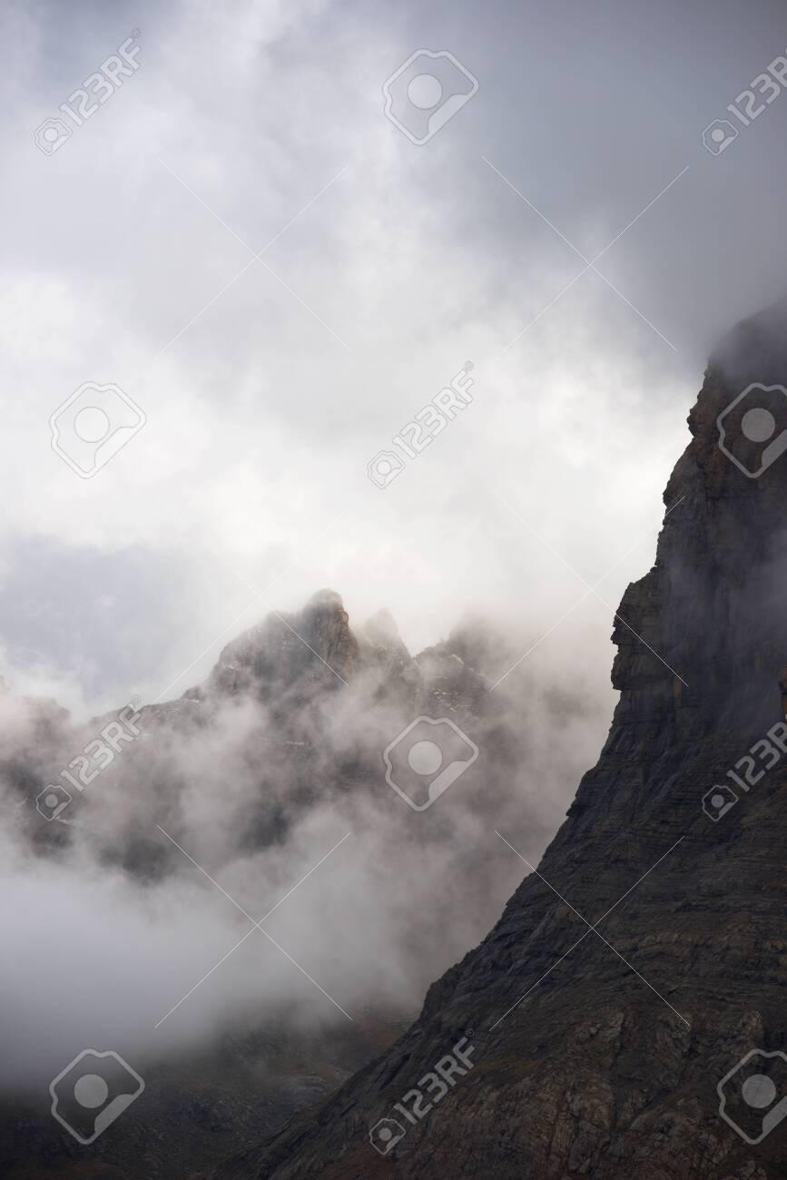 Peak in Canfranc Valley, Pyrenees, Spain. - 131580738