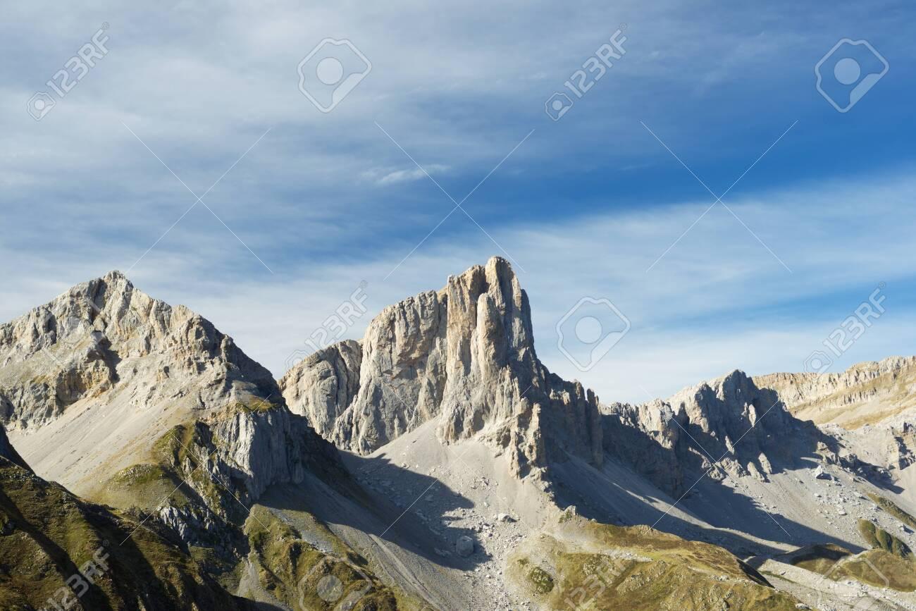 Aiguilles du Ansabere in Lescun Cirque. Aspe Valley, Pyrenees, France. - 142743039
