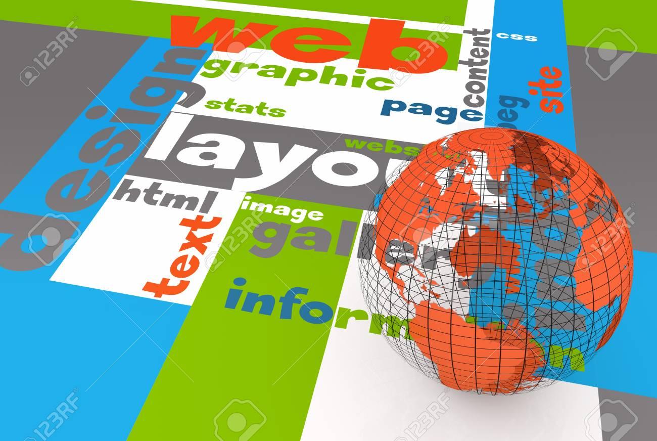 Web layout design Stock Photo - 19259527