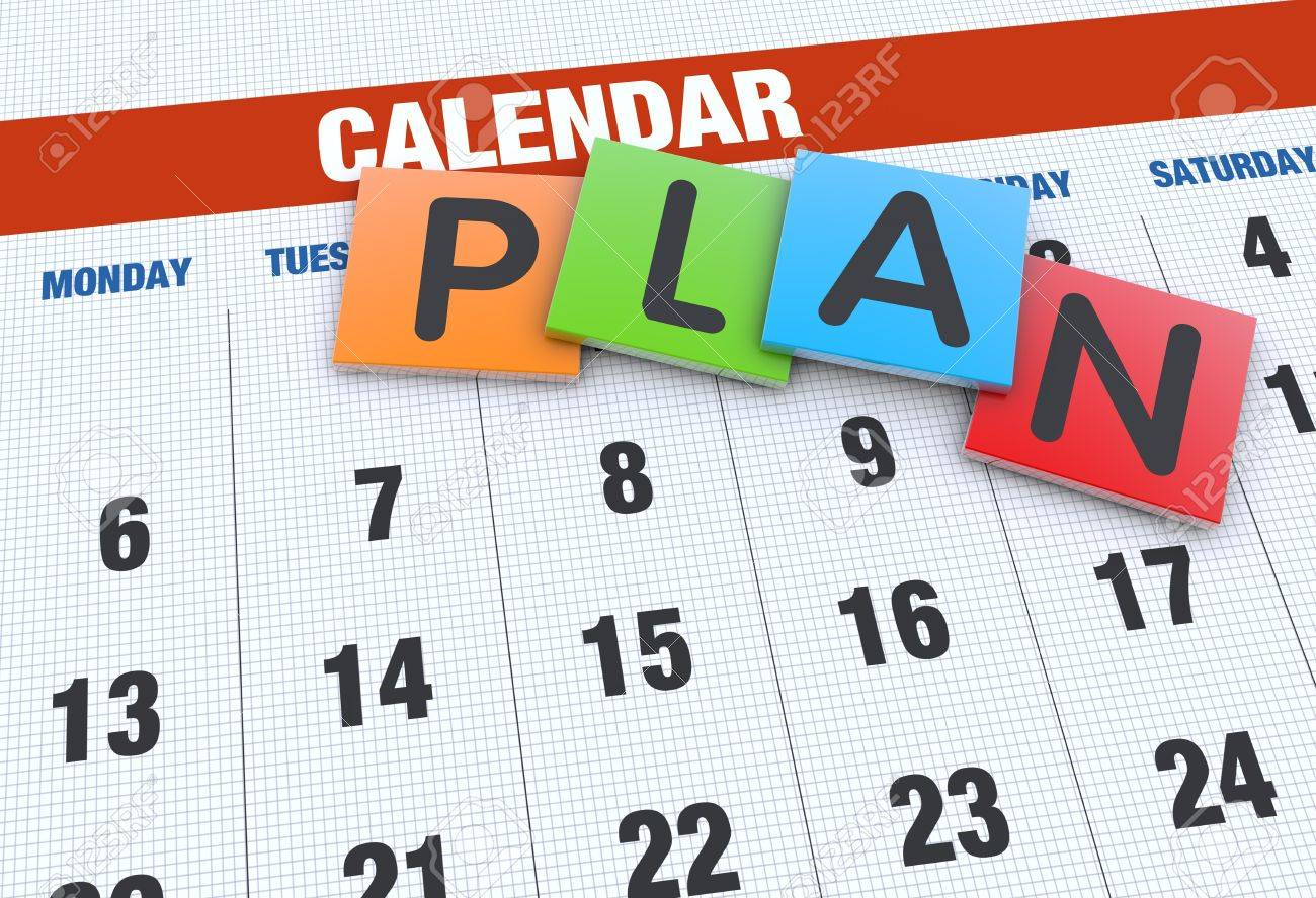 planning calendar as a concept stock photo picture and royalty free