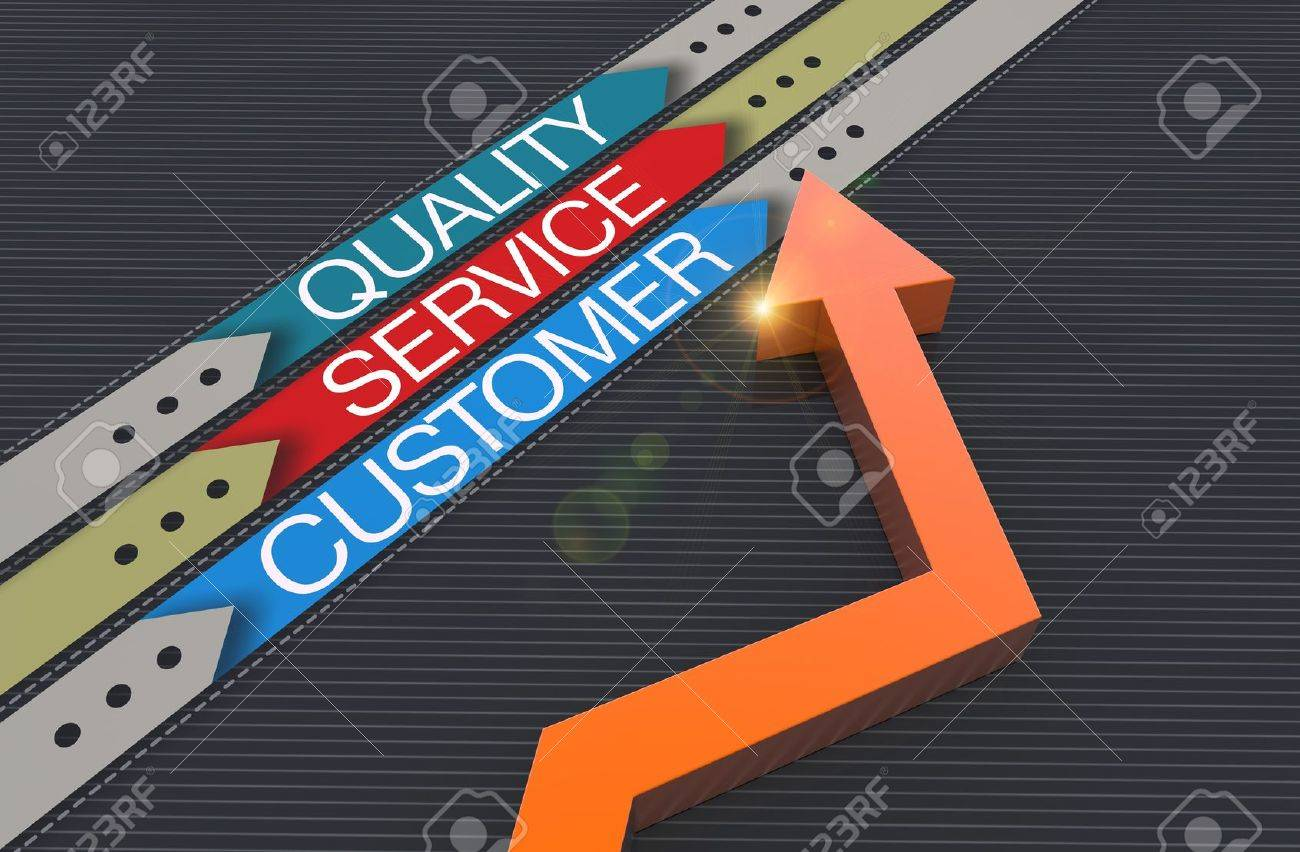 Customer service evaluation for quality Stock Photo - 19936976