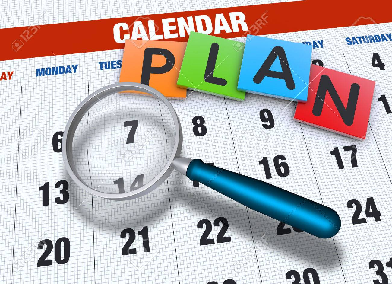 Planning calendar with events concept - 23070740