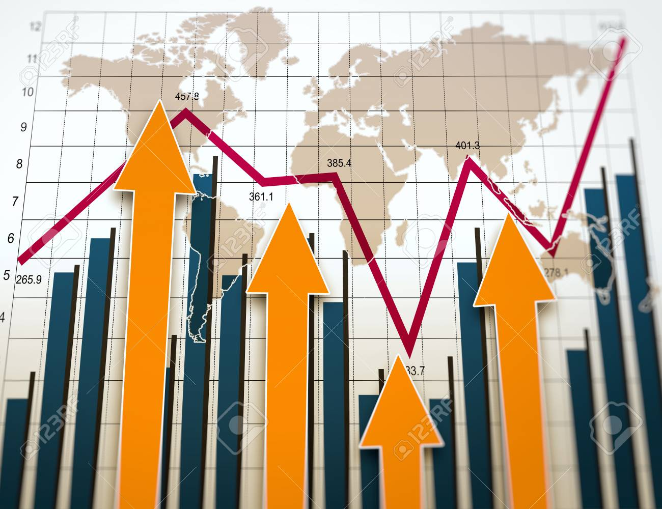 Business charts and graphs as concept - 24159809