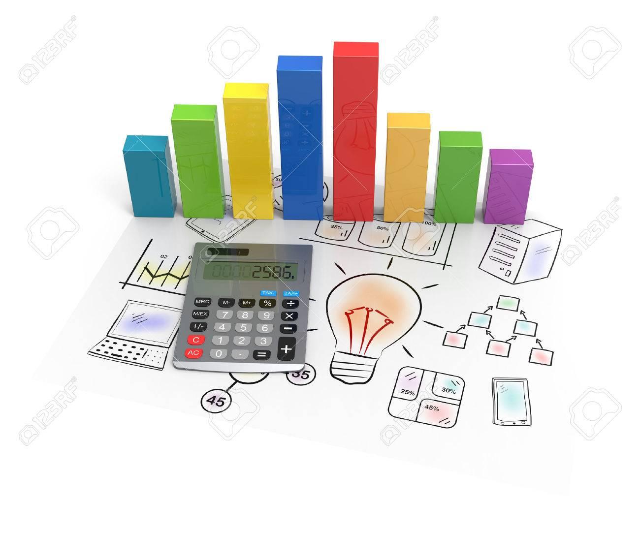Business chart showing financial success - 24159816