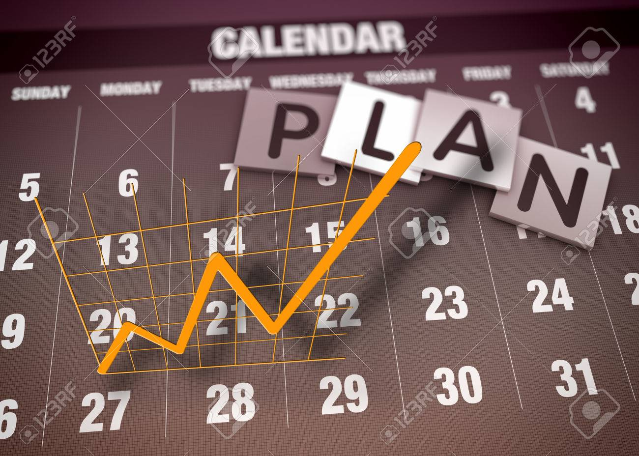 Business planning and charts as concept - 24166917