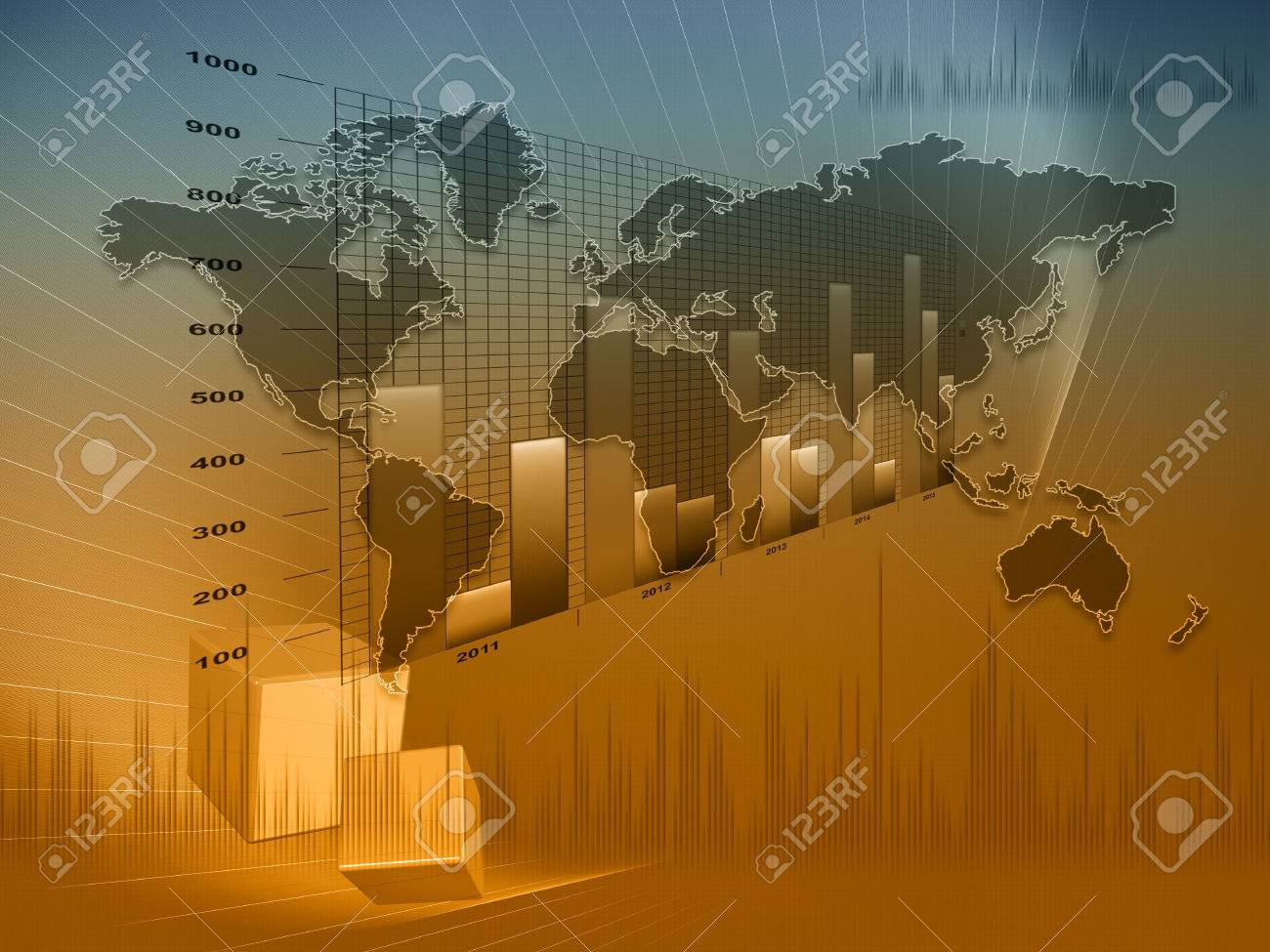 Financial and business chart and graphs - 24836300