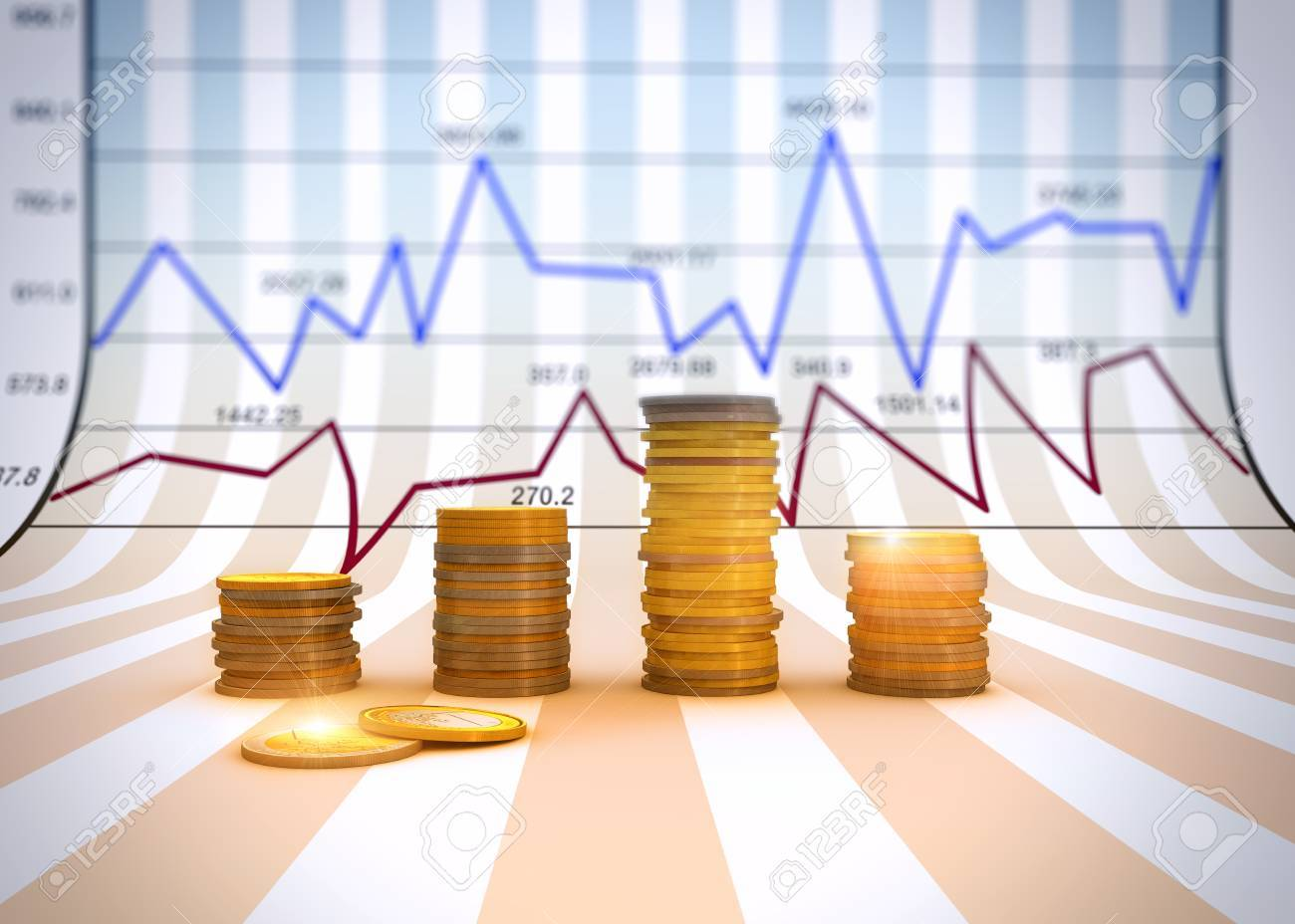 Financial business chart and graphs - 25579238