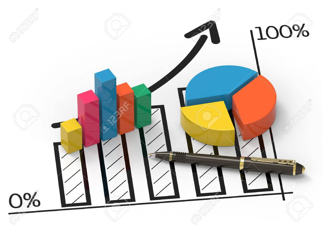 Financial data in form of charts and diagrams - 25579237