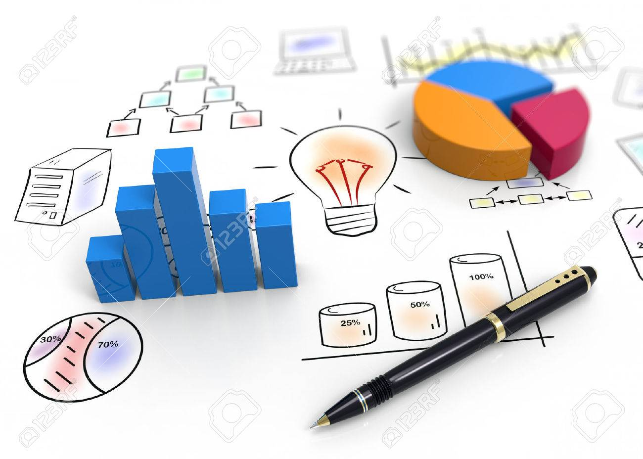 Business charts and graphs as concept - 25579864