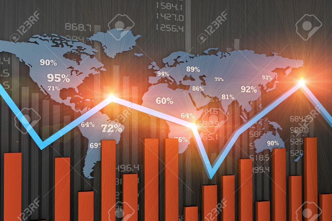 Financial business chart and economic development - 28017513
