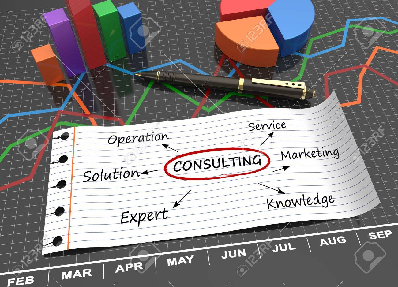 Consulting word written on lined paper as a concept - 30505070