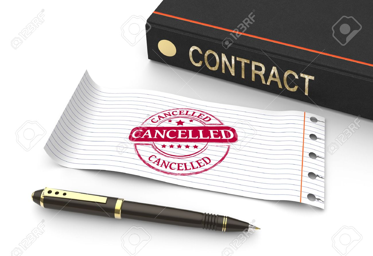 Stamp cancelled with contract document - 31281618