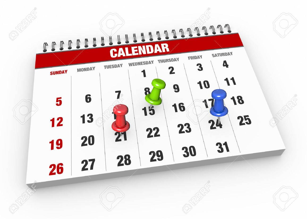 Marca Calendario.Calendario Con Marca De Verificacion Como Concepto