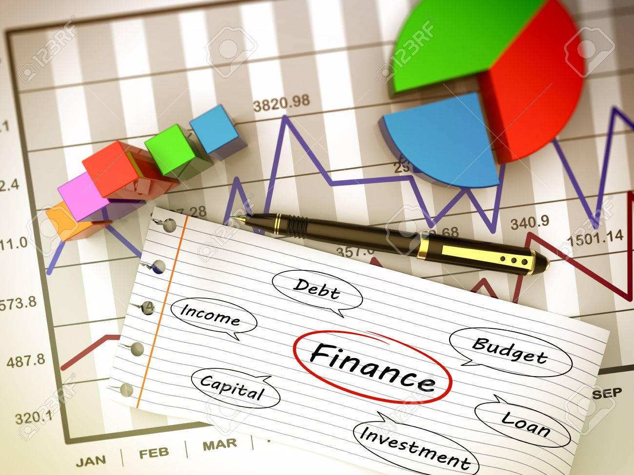 Financial business chart and economic development - 35052218