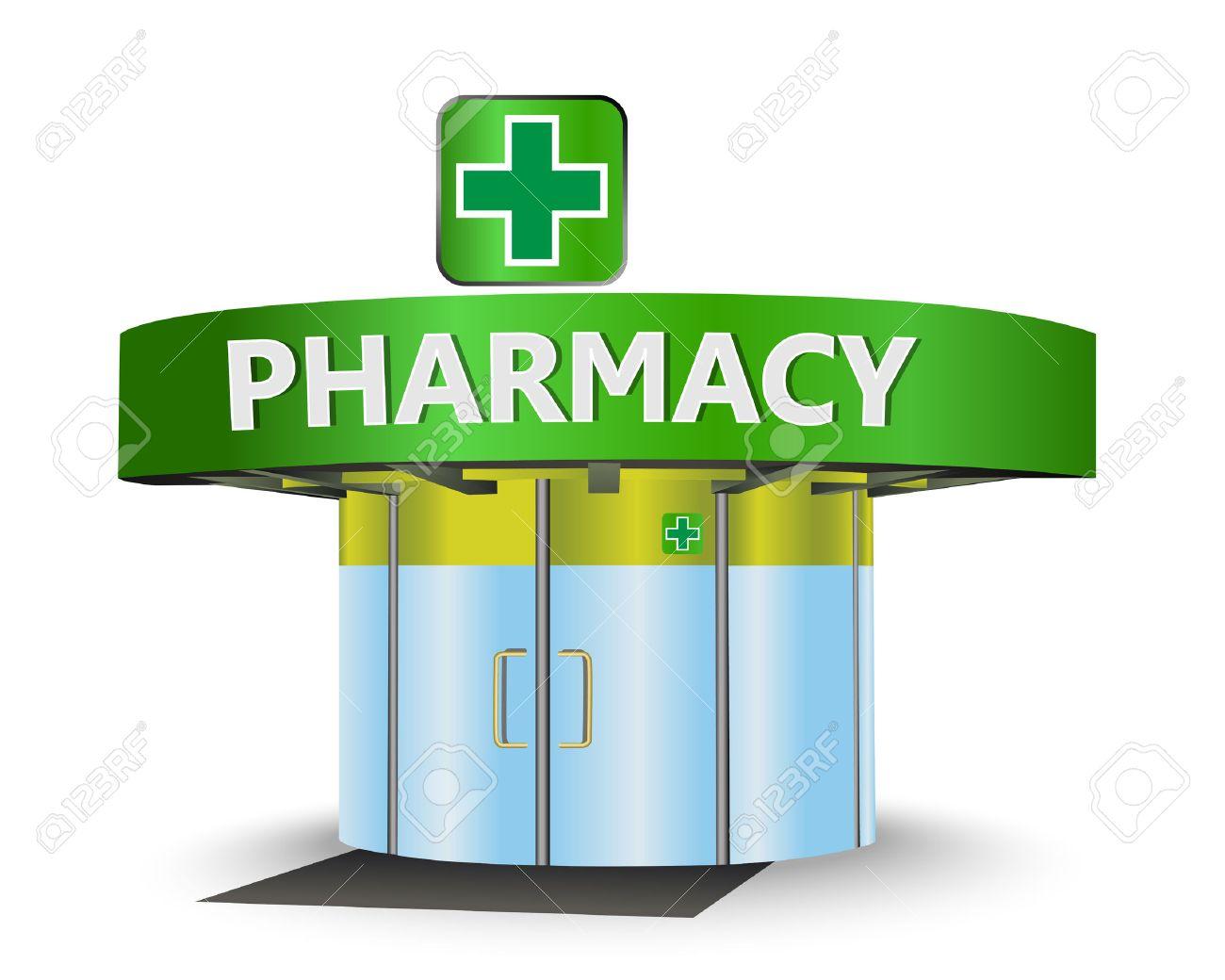 Pharmacy building as a concept symbol - 37140722