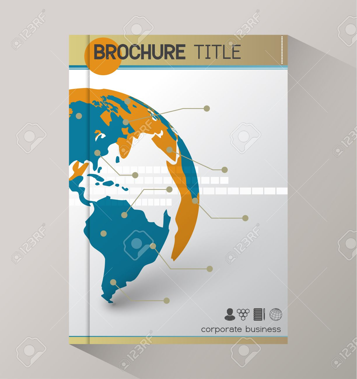 Annual Report Business Statistics Template For Magazine, Brochure ...