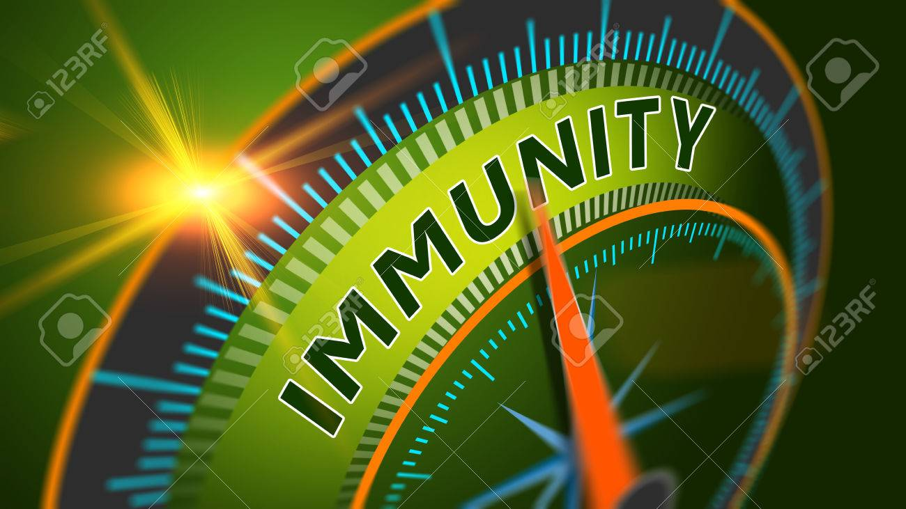 Immunity level position background. Immune system, healthy life concept. - 65730024