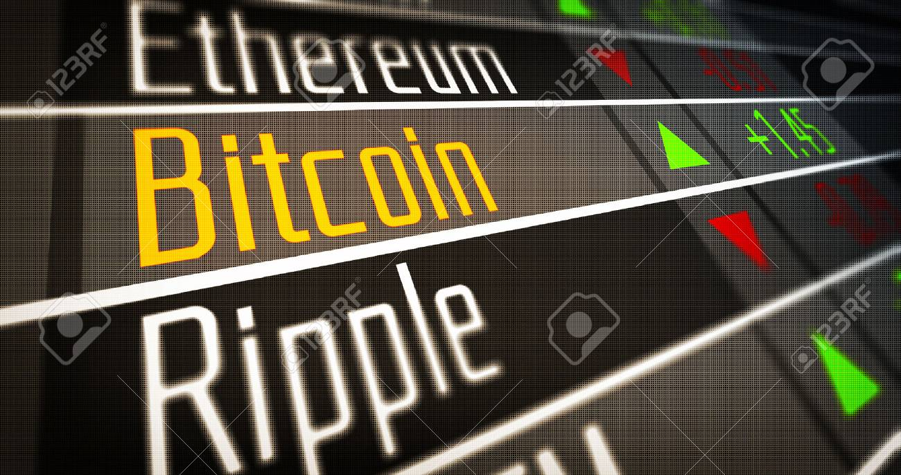 Financial markets and virtual currency values. Crypto Currency Market as concept. - 79405079
