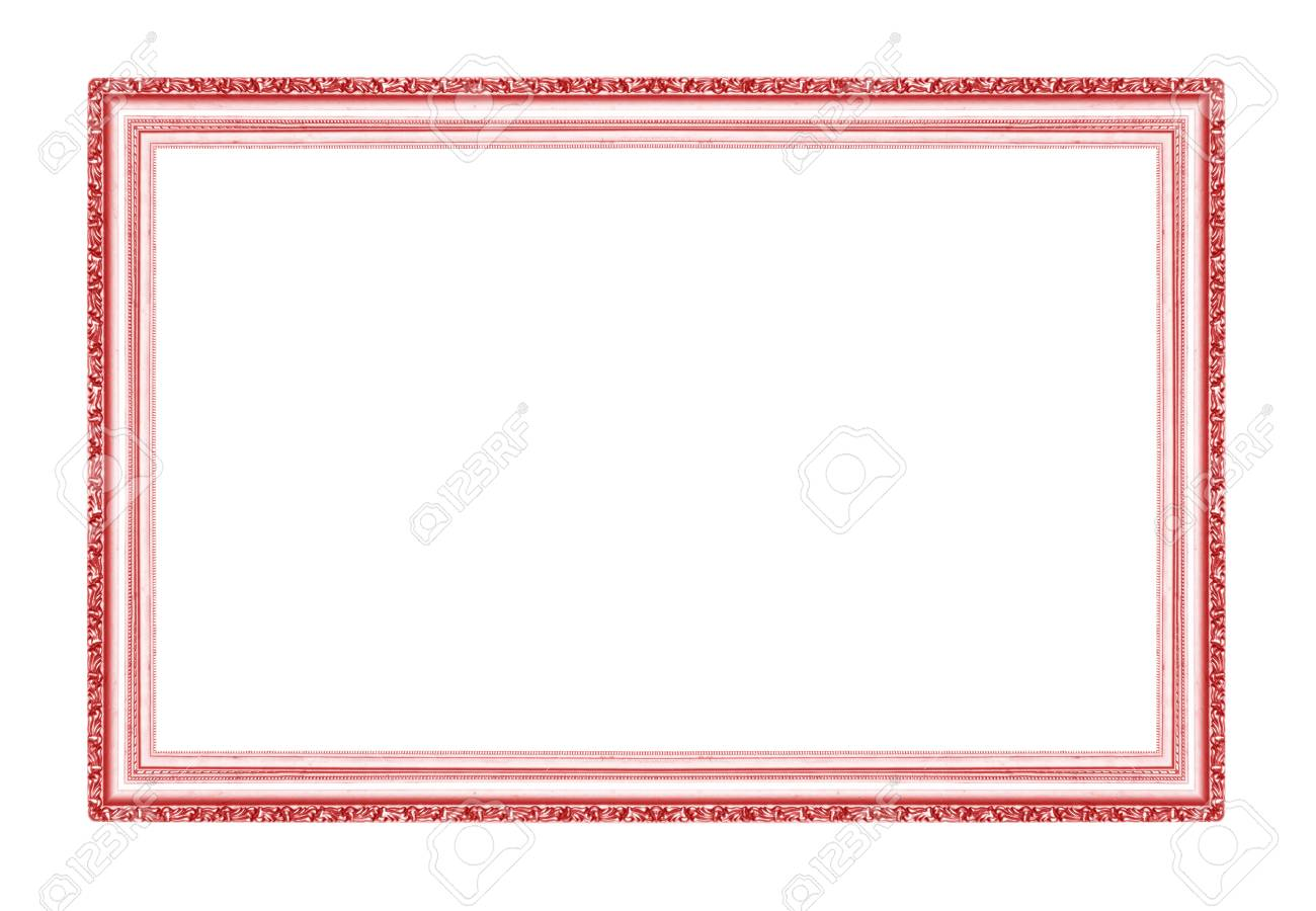 Red Picture Frames. Isolated On White Background Stock Photo ...