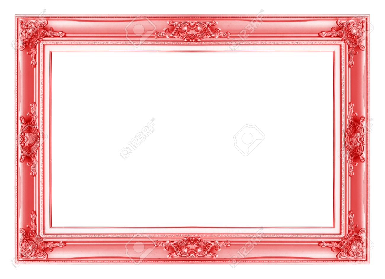 white antique picture frames. Red Antique Vintage Picture Frames. Isolated On White Background Stock Photo - 29242903 Frames D