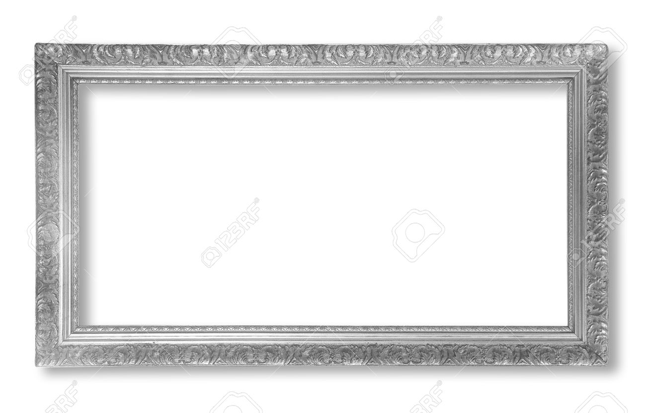 Silver Antique Vintage Picture Frames. Isolated On White Background ...